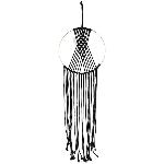Wandhänger Deco SAMT, schwarz, Seil/Metall, 90 cm