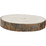 Holz Scheibe TIMBA, natur, Holz, 14x14x2,5 cm