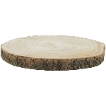 Holz Scheibe TIMBA, natur, Holz, 28x28x2,5 cm
