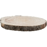 Holz Scheibe TIMBA, natur, Holz, 32x32x3 cm
