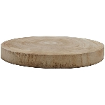 Holz Scheibe TIMBA, natur, Holz, 35x35x4 cm