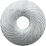 Kranz TIMBA, weiß, Holz, 25x25x3 cm