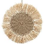 Wandhänger SWILL, Baumwolle Seil/Gras, 38x38x2 cm