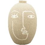 Vase SilO, beige, Porzellan, 16,5x16,5x23,7 cm