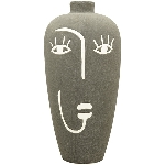 Vase SilO, schwarz, Porzellan, 17,5x17,5x36 cm
