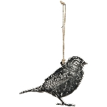 Vogelhänger GROS, silber, Alu, 10x5 cm