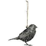 Vogelhänger GROS, silber, Alu, 12x7 cm