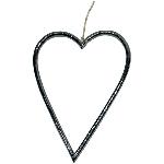 Herzhänger ZONDA, schwarz, Alu, 10 cm