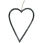 Herzhänger ZONDA, schwarz, Alu, 15 cm
