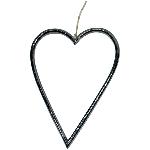 Herzhänger ZONDA, schwarz, Alu, 20 cm