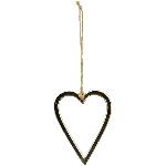 Herzhänger GROS, silber, Alu, 9 cm