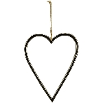Herzhänger GROS, silber, Alu, 11 cm