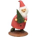 Santa Lilian, rot, Polyresin, 18x18x29,6cm
