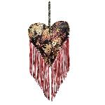 HerzHänger SAMT, rot, Fabric, 20x18x5 cm
