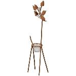 Deer Tôle, rusty, Metall/Glas, 14x8x43 cm