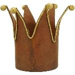 Krone Tôle, rusty, Metall, 13x10x13 cm