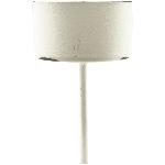 TeeLichtHalter ClairBlanc, weiß, Metall, 4,1x4,1x9 cm
