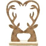 Rentier Tôle, Rusty, Metall/Holz, 15x5x21 cm