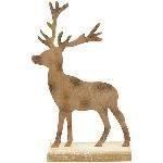 HirschTôle, Rusty, Metall/Holz, 20x6x32 cm