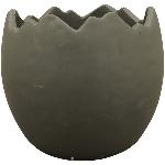 PflanzEi ZONDA, schwarz, Zement, 13x13x12 cm